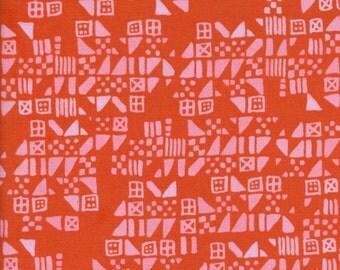 Cotton + Steel Clover - tiny tiles persimmon - fat quarter