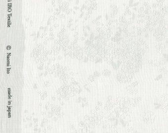 Nani Iro Kokka Japanese Fabric Lei nani - for beautiful corolla linen - water silhouette - 50cm