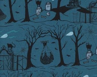 Cotton + Steel Boo! - hallow lane blue - 50cm