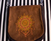 Pouch Spare Pocket Embroidery Mehndi Tattoo Sun