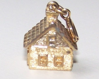 Charm, House Gold Like Metal, Movable, Wedding