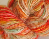 ORANGE BLOSSOM Handspun Wool Yarn Fleecespun Coopworth 141yds 3.1oz 8wpi aspenmoonarts knitting art yarn