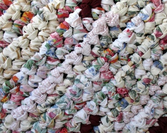 Cotton Rag Rug - Washable Mat - Porch - Burgundy - Contemporary - Kitchen Floor - Throw - Crochet - Cottage - Shabby - Bath - Home Decor