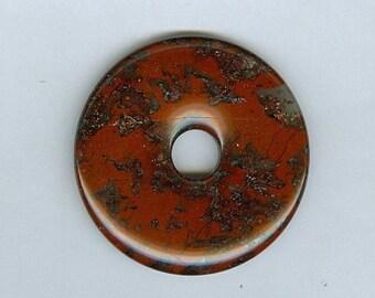 SALE 50mm Mahogany Jasper PI Donut Pendant  11126