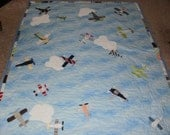 Airplane quilt and bear