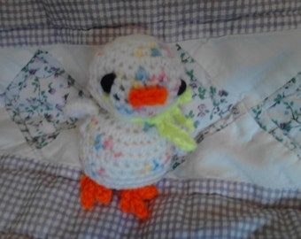 3in White Variegated Chick Toy