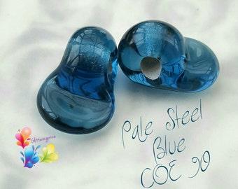 Fusible Glass Bails  - COE 90 Pale Steel Blue Bullseye