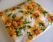 Vintage Yellow Daisy Retro Curtain Panel Drape Fabric