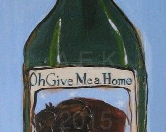 Buffalo Art - Buffalo Ice Wine Print -  Plak Mounted Buffalo Print -  Buffalo Art Work - Buffalo NY - Buffalo Gift