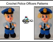 Crochet Police Officers Patterns, crochet policeman, crochet police female, police pattern