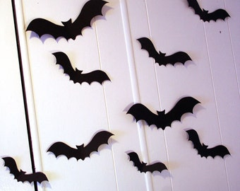 3d wall decor flying bats wall decor halloween party decorations custom wall art