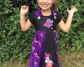 Halloween Mickey and Minnie custom boutiqe party dress sz 2 3 4 5 6 7 8