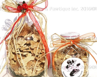 Laineys Upcycled Jar of Gourmet Dog Cookies