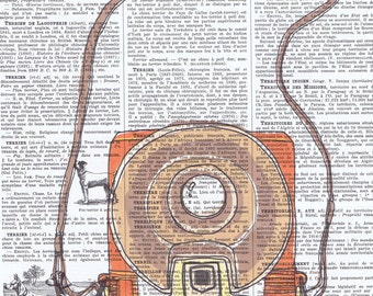 Camera.Brownie.Snapshot.Original Instagram.Retro.Book Page Collage Print.Home Deco,Old School.artist.mom.dad.photographer.vintage.french
