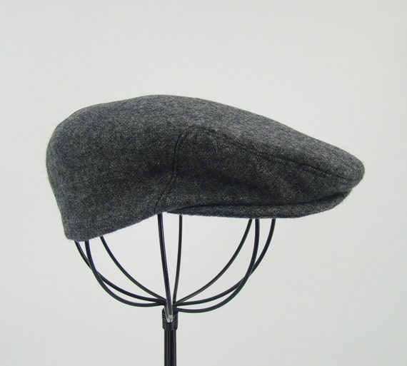 Grey Tweed Wool Children's Sixpence Hat Flat Jeff Cap