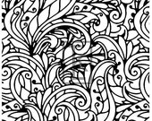Decorative Leaves Larger Size Clear Stamp Texture