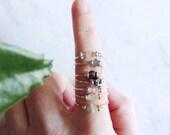 no. 627 - gemstone stacking ring