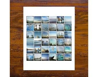 Print - [Mon-17] - Sydney Images, blue, mini squares