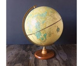 Yellow World Globe with Stand - School House Decor