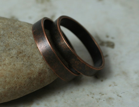 Antique copper band ring blank, one piece (item ID FA00096AC)