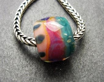 CrazyCatGlass Lampwork Boro Glass Beads Handmade Sherbet BHB Stone