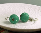 Polymer Clay Polka dot earrings