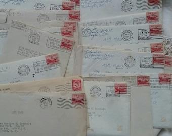 Six Vintage Letters...1955 AIRMAIL