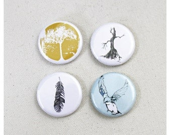 Nature Magnets Set of 4 - 1.25 Inch Nature Fridge Magnets