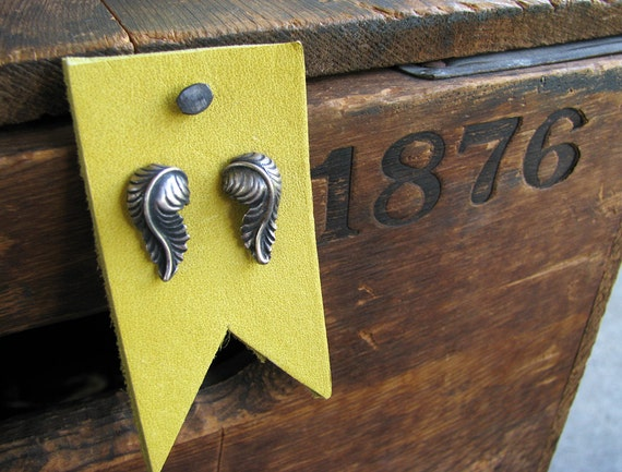 Spring Break- Feather Studs- Oxidized
