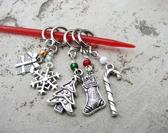 Christmas and Winter Non-Snag Stitch Markers