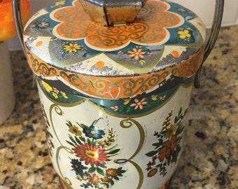 Vintage Murray Allen Floral English Tin