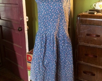 Vintage handmade floral boho 70's/80's dress. Size M