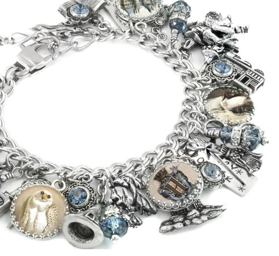 Wizard Jewelry, Magic Charm Bracelet, Magical Bracelet, Witch Charm Bracelet, Boy Wizard