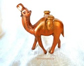 Wooden handcrafted camel MADE TO ORDER made of olive wood in Bethlehem, hand painted by me.