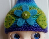 Blythe Hat Fizzy Felted Flowers 2