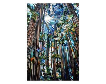 "CANVAS PRINT Golden Cedars  Painting 12x8"", 18x12"", 24x16"", 30x20"", 36x24"", 42x28"", or 48x32"""