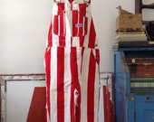 super rare vintage Big Smith red & white striped overalls