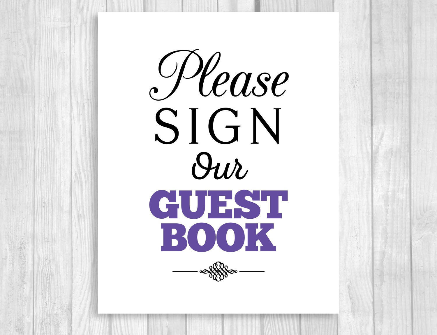 This is an image of Fan Please Sign Our Guestbook Free Printable