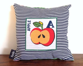 Apple Pillow, Letter A Pillow, Alphabet Pillow, Baby Pillow, Apple Decor, Baby Cushion, Nursery Decor, Apple Nursery, fede, gift for baby