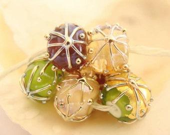 7 Handmade Lampwork Beads