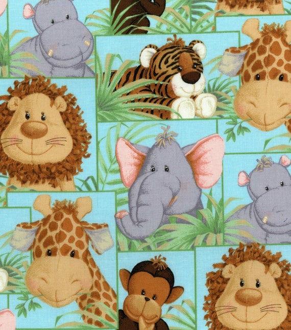 Jungle Babies Animal Fabric 2006 Sieries