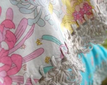 pillowcase with crochet trim  -  Floral Fantasy