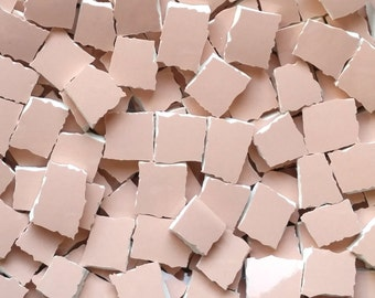 Mosaic Tiles-Peachy Flesh - Great for Portrait mosaics- Facial Skin Color 100 tiles