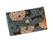 The Metro Wallet with blue blossoms - reserved for Lisa