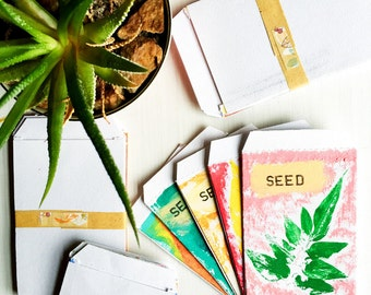 Seed Saving Packets - Mini Envelopes Set of 5 - Handmade Gift for Gardeners