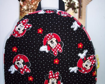 My Carrie Toddler/Teen Backpack/Purse made from Disney Minnie Mouse Fabric