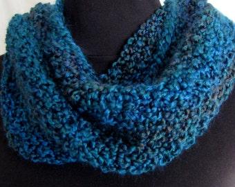 SALE #Neckwarmer #Cowl #Circular #Scarf #Accessory #Warm #High Fashion #Beautiful Blue Yarns