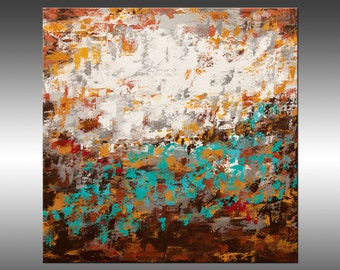 Modern Industrial 9 - Large Original Abstract Painting, Canvas Art, Modern, Contemporary