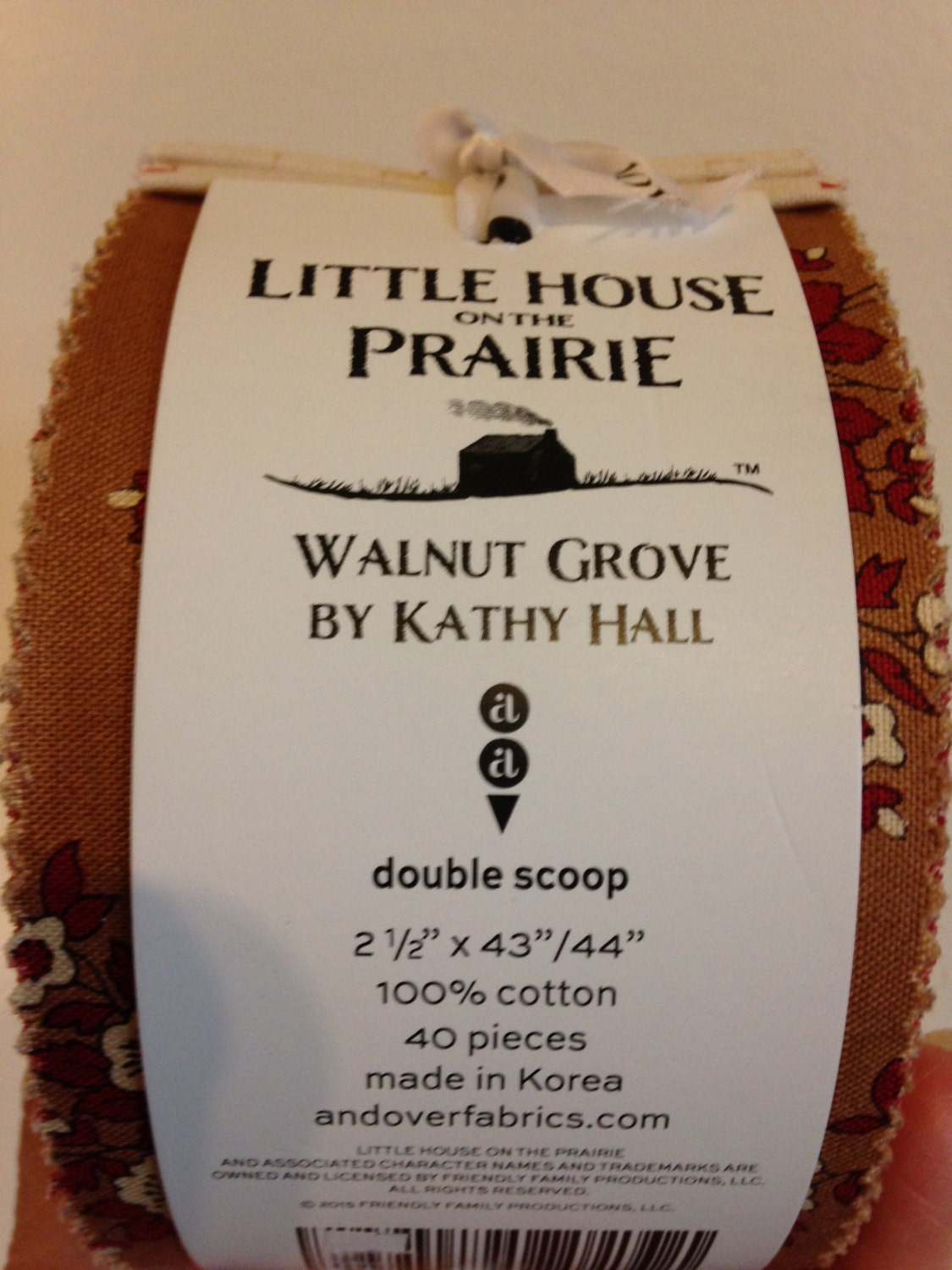 Little House On The Prairie Walnut Grove Jelly Roll From