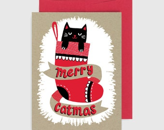 Holiday Card - Merry Catmas